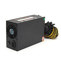 2200W Mine Chassis Power Supply Rig Coin Miner Black Conversion 230 * 150 * 85MM