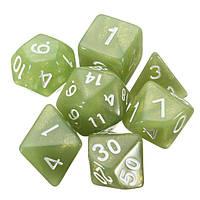 28шт Polyhedral Digital Кости Комплект 4 Цвета 4D 6D 8D 10D 12D 20D Акрил с 4 Сумка