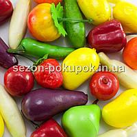 (25шт) Искусственные фрукты - овощи (муляж). Цена за 25 шт.