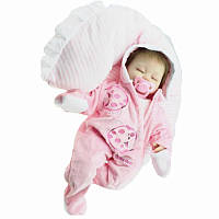 16 дюймов Reborn Baby Кукла Soft Тело Силиконовый Девушка Lifelike BeBe Reborn Handmade Kits Birthday Toy