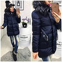 Женская Зимняя куртка с люверсами