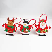 Рождественский подарок чулок Упаковка подарок Коробка Смазливая Санта украшения конфеты Коробка чулок Рождественский подарок Сумки