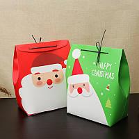 Рождественский подарок чулок подарок Коробка Симпатичные Санта украшения конфеты Коробка чулок Рождественский подарок Сумки