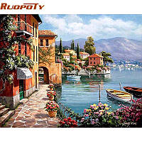 RUOPOTY Venice Resorts Seascape DIY Картина по номерам Handpainted Масло Картина Гостиная Главная Декорация стен Картина 40x50cm