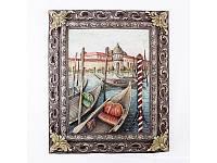 """Картина барельеф """"Венеция. Причал"""" цветная"""