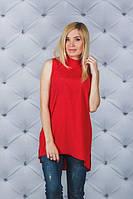 Большие размеры по низким ценам ! Летняя блузка  красная, фото 1