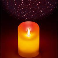 LED Беспламенная электронная свеча Звезда Лазер Ночная проекция Лампа для фестиваля вечеринок