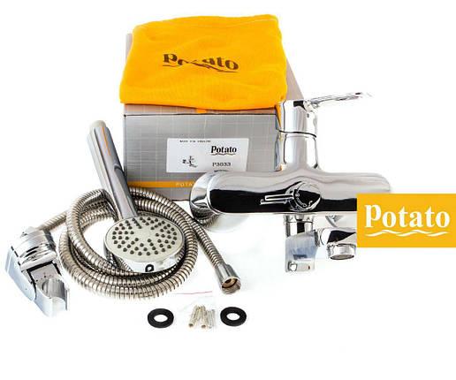 Смеситель для ванны POTATO P3033, фото 2