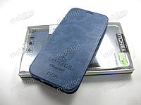 Чехол книжка MOFI Vintage Samsung Galaxy S7 Edge (синий), фото 1