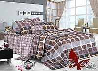 Комплект постельного белья сатин двуспальный TM Tag 082