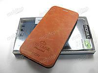 Чехол книжка MOFI Vintage Samsung Galaxy S7 Edge (коричневый), фото 1