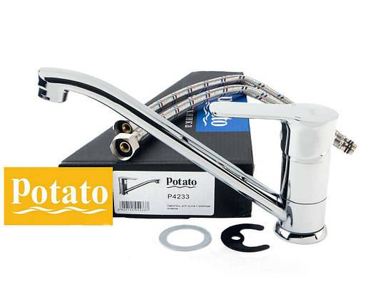 Смеситель для кухни POTATO P4233, фото 2