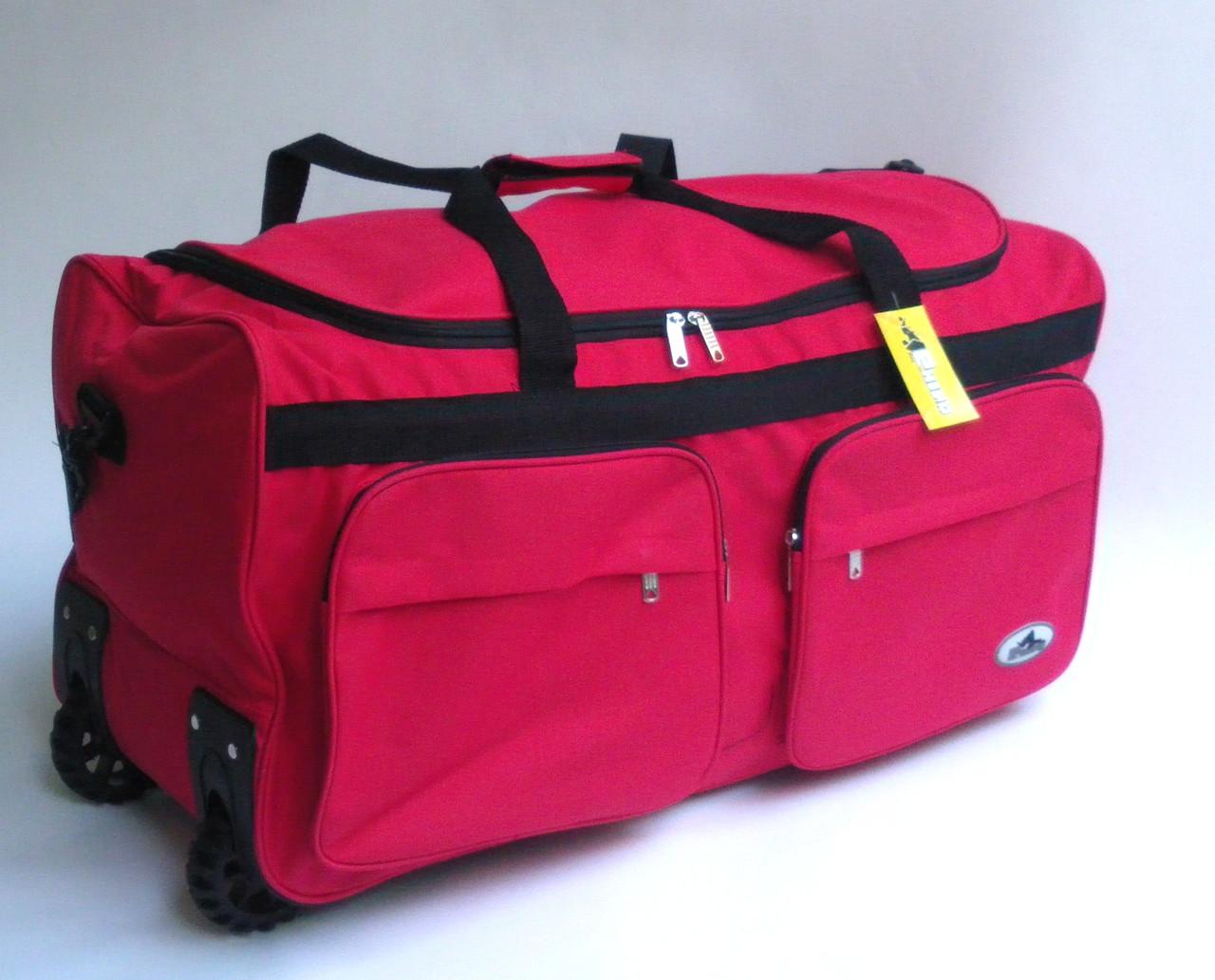 a483f733198e Дорожная - спортивная сумка на колесах Rhino - красная, 46 л ...