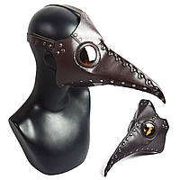 НаоткрытомвоздухеИграКоричневыйPU кожа Стимпанк чума птицы нос Маска Готический костюм Хэллоуин партии