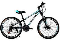 Велосипед Cross Racer 24 black/blue/white
