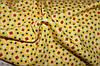 Ткань французкий трикотаж желтый ромбик
