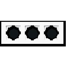 Рамка тройная Gunsan Moderna Белая