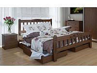 """Деревянная кровать """"Луизиана люкс"""" с ящиками"""