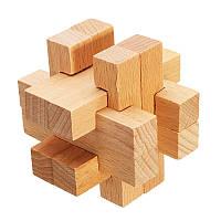 Kong Ming Замок Игрушки Дети Дети Сборка 3D-головоломка Cube Challenge IQ Brain Деревянная игрушка