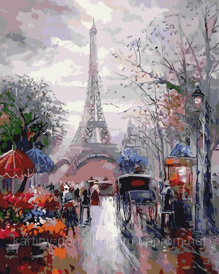 Картина по номерам AS0035 Французская улочка (40 х 50 см) ArtStory