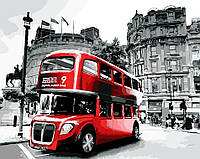 Картина по номерам AS0041 Лондонский автобус  (40 х 50 см) ArtStory