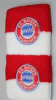 Напульсники махровые футбольные с вышитым гербом FC Baern