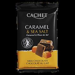 Шоколад CACHET Caramel and sea salt 300г Карамель и морская соль  (1ящ/12шт)