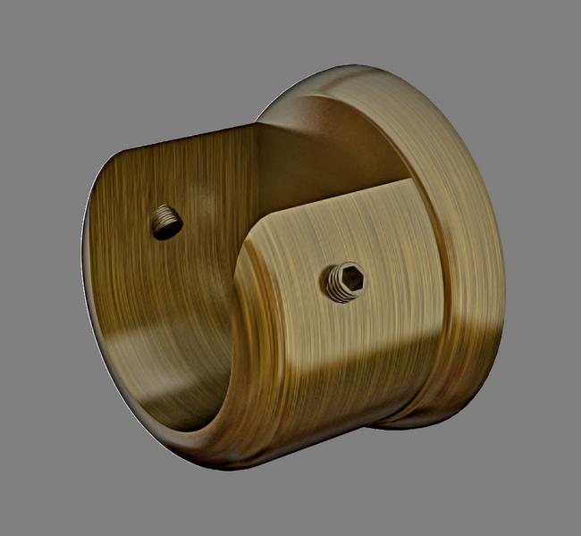 Кронштейн торцевой для трубы Ø16мм