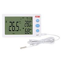 UNI-T A12T Digital LCD Термометр Гигрометр Температурный индикатор влажности Alarm Часы Погодная станция Indoor На открытом воздухе