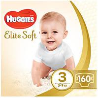 Подгузники Huggies Elite Soft  3 (160шт.) BOX 5-9 (Хаггис Элит Софт)