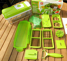 Овощерезка niser diser plus с самозатачивающимися ножами с пищевого пластика и стали
