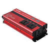1200W DC 12V до AC 220V LED Преобразователь мощности инвертора 4 USB-порта зарядное устройство