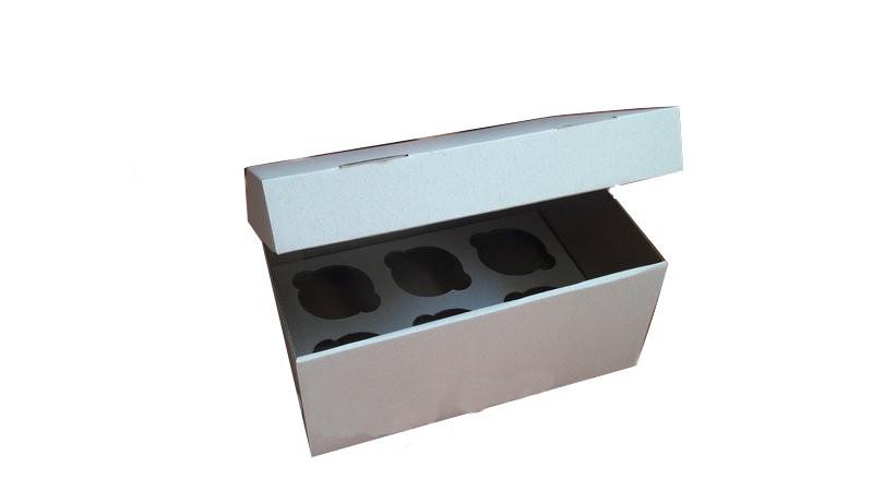 Коробка для капкейков, кексов и маффинов 6 шт 250х170х110 мм.