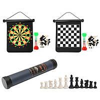 2в136*31 см Шахматы Набор Магнитный дартс На открытом воздухе Путешествия Семья Развлечения Шахматы Дарт игры
