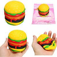 Squishy Кот Гамбургер Бюргер Медленный Восходящий Симпатичный Подарочный Декор Soft Игрушка с Оригинальной упаковкой