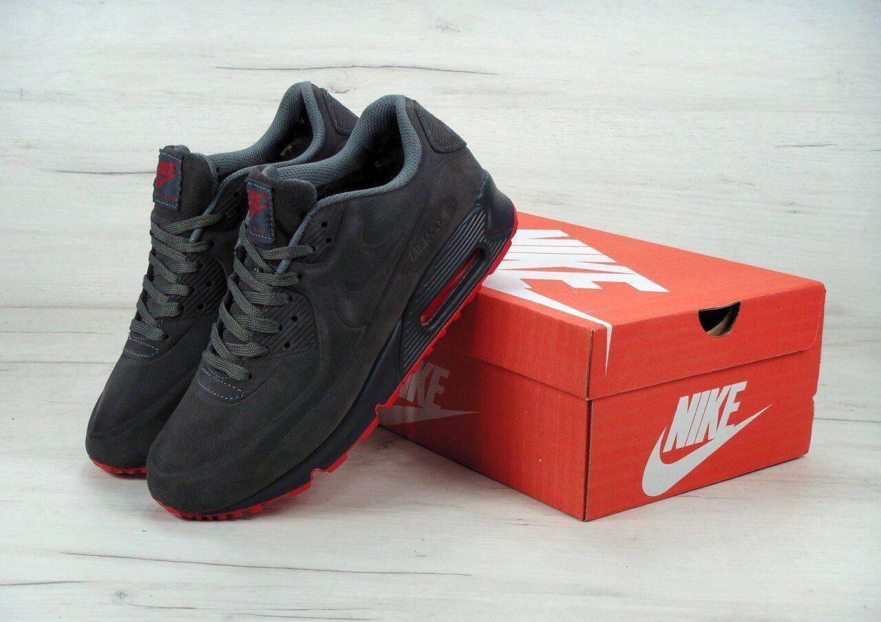 Зимние кроссовки Nike Air Max 90 VT Tweed Winter Grey - Интернет магазин  обуви «im 6f3cd5ab8ed