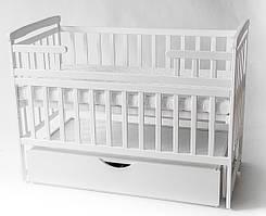 Детская кроватка трансформер Лодочка белая Детский Сон