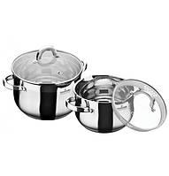 Набор  посуды из нержавеющей стали на 4 предмета