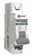 Автоматический выключатель EKF ВА 47-63 1P 10A (C) 4.5kA