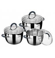 Набор  посуды из нержавеющей стали на 6 предметов