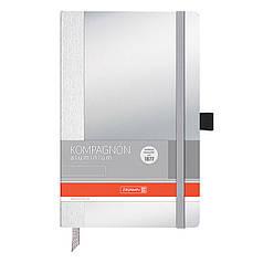Книга записная А5 Brunnen Компаньон Aluminium, 96 листов, чистые листы