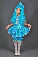 Детский костюм Мальвина 5, 6, 7, 8, 9, 10, 11 лет + парик. Карнавальный костюм для девочки