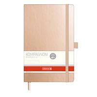 Книга записная А5 Brunnen Компаньон, металлического цвета, точка