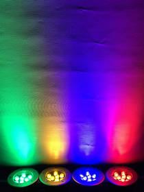 Светодиодный тротуарный линзованный светильник LM989 9W красный, синий, зеленый, желтый Код.59140