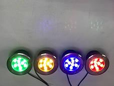 Светодиодный тротуарный линзованный светильник LM989 9W красный, синий, зеленый, желтый Код.59140, фото 3