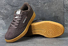 Мужские кроссовки Reebok кожаные,замшевые коричневые, фото 2