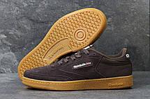 Мужские кроссовки Reebok кожаные,замшевые коричневые, фото 3