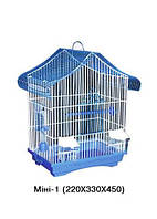 Клетка для птиц Мини-1 Лори, кормушка, поилка, жердочка, разборная (краска), 330х230х450мм
