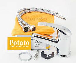Смеситель для умывальника POTATO P1004, фото 2