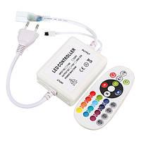 AC220V EU Plug Инфракрасный контроллер с 24 ключами Дистанционное Управление для LED Strip Light